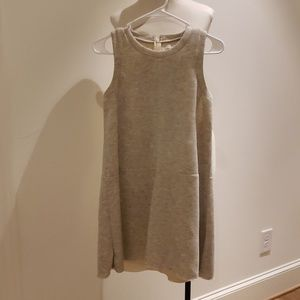 Madewell Neoprene Grey Mini Dress